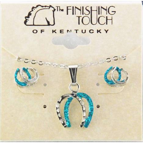 Finishing Touch Double Horse Shoe with Glitter Gift Set