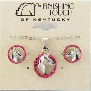 Finishing Touch Horse Head in Rope with  Glitter Gift Set