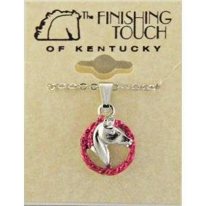 Finishing Touch Horse Head in Rope Glitter Pendant
