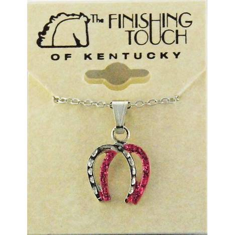 Finishing Touch Double Horse Shoe Glitter Necklace