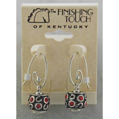 Finishing Touch Pandora Wire Earrings with Drop Link Stone Horse Shoe Bead