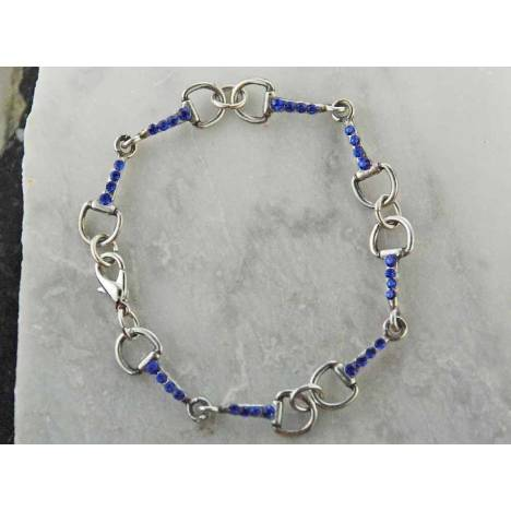 Finishing Touch Snaffle Bit Bracelet with Pave Rhinestones