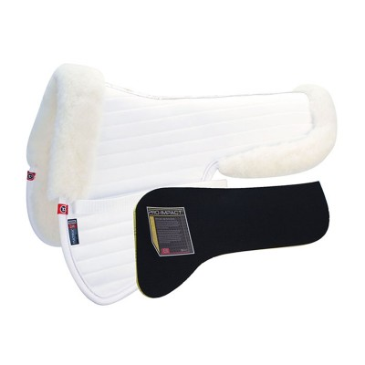 Matrix Ergonomic All Purpose Sheepskin Half Pad with Pro-Impact Inserts