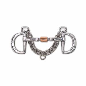 Toklat 3-Piece Snaffle with  Copper Roller Uxeter Kimberwick