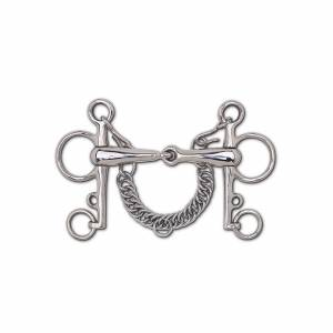 Toklat Stainless Steel Hollow Mouth Snaffle Pelham - 5 1/4
