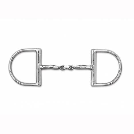 Myler Level 1 English Dee French Link Snaffle Bit with o Hooks