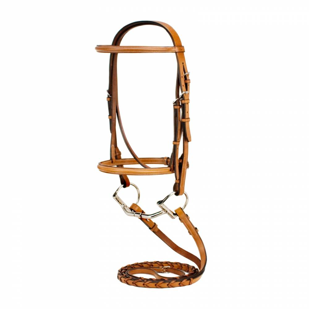 Silverleaf Snaffle Bridle With Reins Equestriancollections