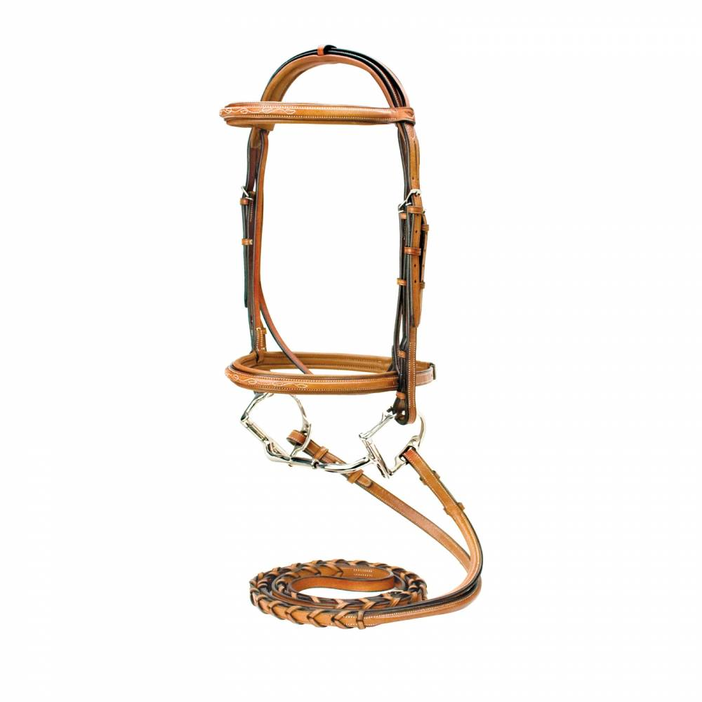 Silverleaf Fancy Square Raised Bridle Equestriancollections