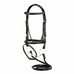 Siverleaf Plain Padded Dressage Bridle with Flash/Reins