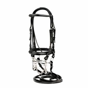Silverleaf Raised Padded Double Bridle with 2 Pair Reins