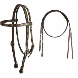 Cashel Camo Headstall with Split Reins