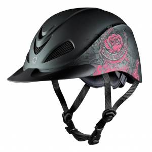 Troxel Rose Western Rebel Helmet - Black/Pink