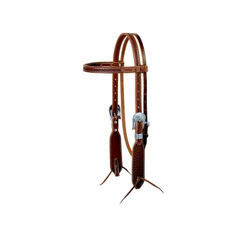 Weaver Native Tooled Browband Headstall
