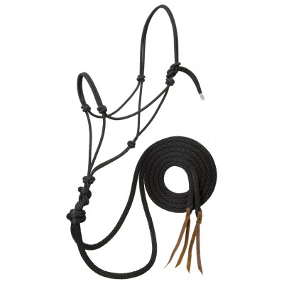 Weaver Silvertip Loping Rope Halter with  8' Reins