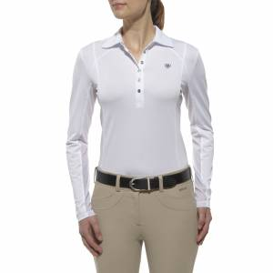 Ariat Sunstopper Polo Shirt - Ladies, White
