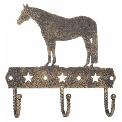 Gift Corral 3 Hook Rack - Quarter Horse