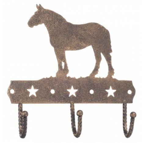 Gift Corral 3 Hook Rack - Draft Horse