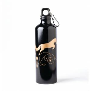 Kelley Aluminum Sports Bottle - Black & Gold, 26 oz