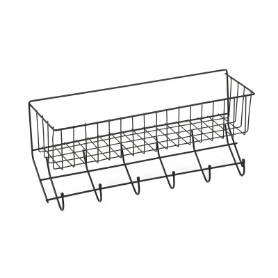 Equi-Essentials Wire 6-Hook Rack with Basket