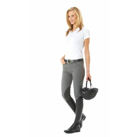 Ovation Christina Euroseat Side Zip Breeches - Ladies, Knee Patch