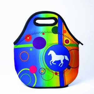 Kelley Tek Trek Neoprene Rainbow Lunch Tote