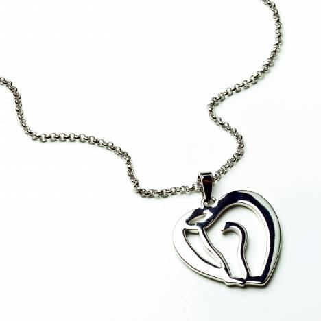 Kelley Horse Head as Heart Necklace