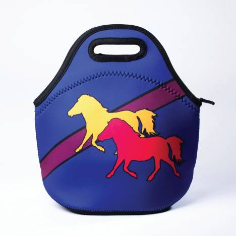Kelley Tek Trek Neoprene Lunch Tote with Ponies