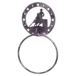 Gift Corral Towel Ring - Barrel Racer