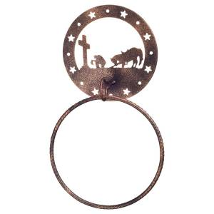 Gift Corral Towel Ring - Western Cross