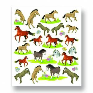 Kelley Horses and Flowers Stickers