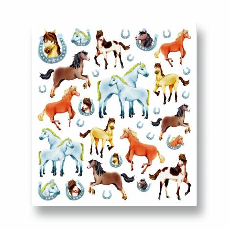 Kelley Glitter Horses & Horseshoes Stickers