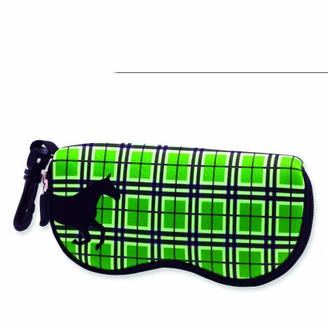 Kelley Tek Trek Neoprene Plaid Sunglass Case