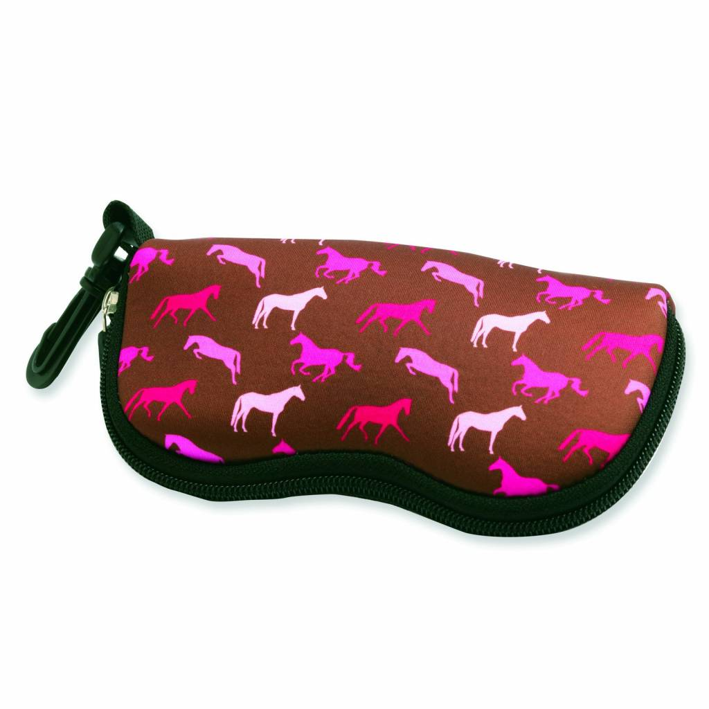 Kelley Tek Trek Neoprene Horses Sunglass Case