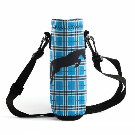 Kelley Tek Trek Neoprene Plaid Water Bottle Carrier