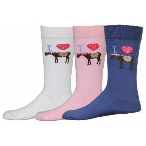 Tuffrider I Heart Pony Socks -Kids, 3 Pack