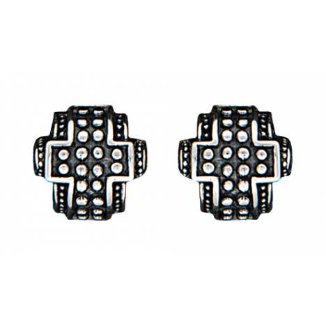 Montana Silversmiths Half Bead Cross Earrings