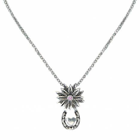 Montana Silversmiths Bitterroot Trail Necklace with Silver Heart