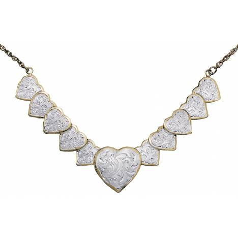 Montana Silversmiths Silver And Gold Link Of Hearts Choker
