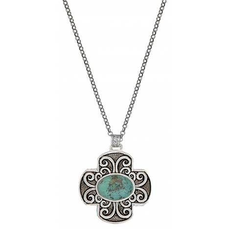 Montana Silversmiths Four Winds Turquoise Cross Necklace