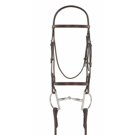 Camelot Plain Raised Snaffle Bridle with Laced Reins
