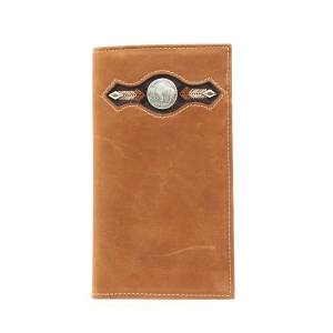 Nocona Mens Rodeo Wallet with  Buffalo Nickel