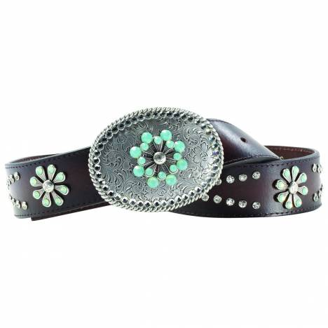 Ariat Snowflake Belt - Ladies, Chocolate