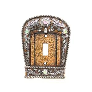 Western Moments Buckle Single Switch Plate