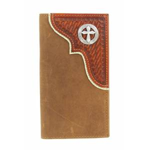 Nocona Mens BasketweaveTrim Wallet