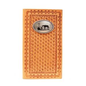 Nocona Mens Rodeo Basket Weave Wallet