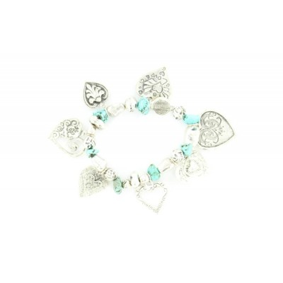 Blazin Roxx Heart Charm Bracelet