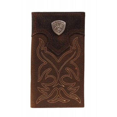 ARIAT Mens Rodeo Wallet with  Shield