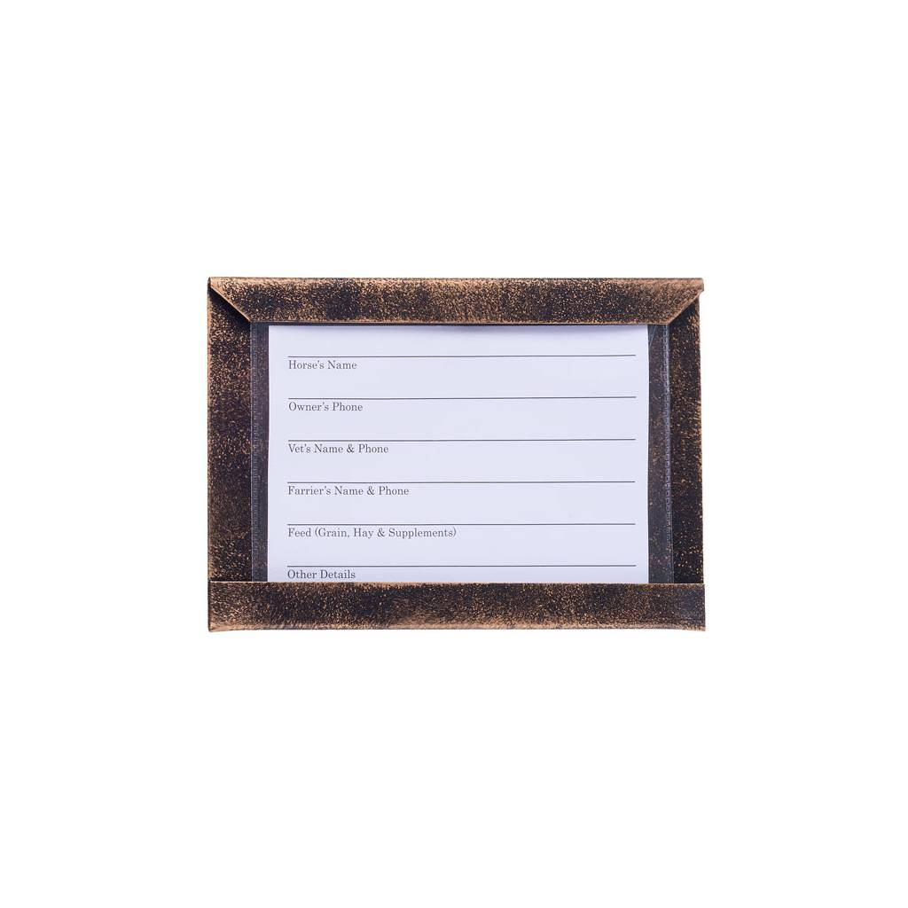 Tough-1 Stall Card Holder with Cards