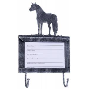 Tough-1 Deluxe Stall Card Holder with  Hooks - Miniature Horse