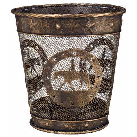 Gift Corral Small Waste Basket - Quarter Horse